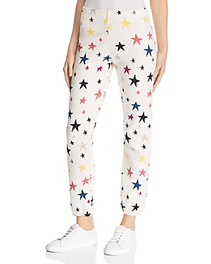 Monrow Pants STAR PRINT SWEATPANTS