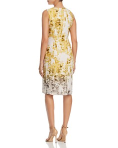Kenneth Cole - Printed Waterfall Wrap Front Dress