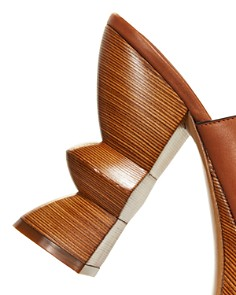Salvatore Ferragamo - Women's Carved Heel Platform Mule Sandals