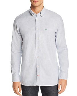 Tommy Hilfiger - Icon Logo Stripe-Printed Regular Fit Button-Down Shirt
