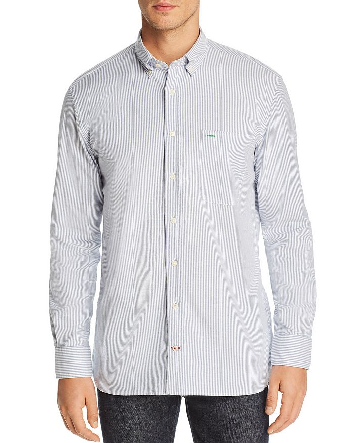 Tommy Hilfiger - Icon Logo Stripe-Printed Regular Fit Button-Down Shirt