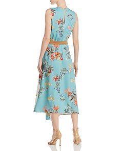 Marella - Elfo Asymmetric Color-Blocked Floral Midi Dress - 100% Exclusive
