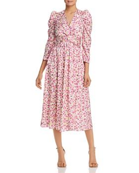 892a7aab204 kate spade new york - Striped Floral-Print Midi Dress ...