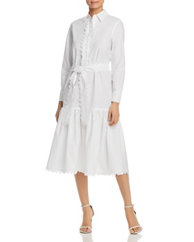 09ccaefab0 Tory Burch - Scalloped Cotton Shirt Dress ...
