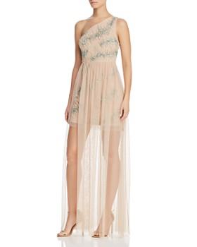 5767ff178b7 Aidan by Aidan Mattox - Embellished One-Shoulder Gown ...