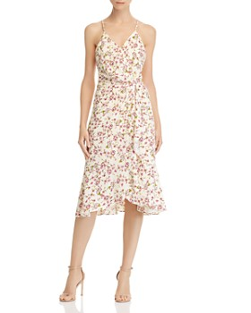 WAYF - Floral Faux-Wrap Dress