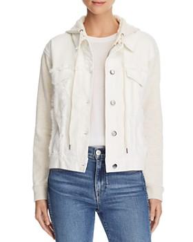 5e48c019ac Splendid - Mixed Media Hooded Jacket ...