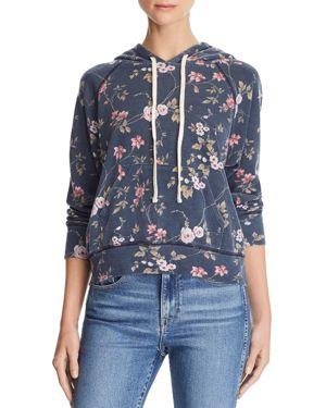 Sundry Floral Pocket Hoodie