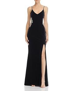Avery G - Embellished Velvet Gown