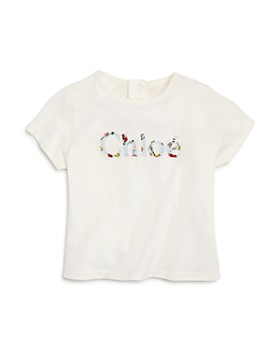 Chloé - Girls' Floral-Logo Tee - Baby