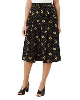 HOBBS LONDON - Emmy Dotted-Floral-Print Skirt