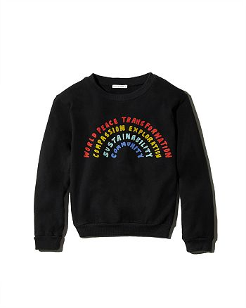 COMUNE - Girls' Rainbow Sweatshirt, Little Kid, Big Kid - 100% Exclusive