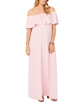 7f37e0e66cd43 Ingrid & Isabel - Maternity Off-the-Shoulder Maxi Dress ...