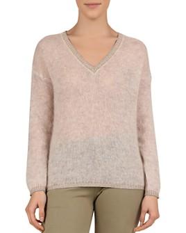 Gerard Darel - Joe Semi-Sheer V-Neck Sweater