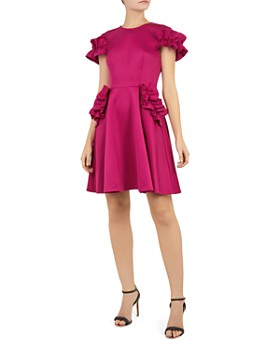 5ae186427a360 Ted Baker - Luuciee Ruffle-Trimmed Dress ...