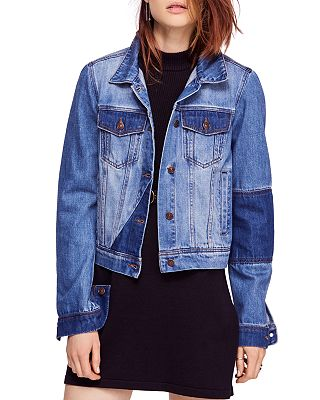 Free People - Rumors Denim Jacket in Indigo Blue
