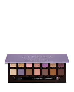 What It Is: Norvina\\\'s go-to eyeshadow palette, featuring 14 whimsical shades ranging from bold and bright mattes to soft pastel metallics. What It Does: Norvina shares her inspiration: I have always wanted to create a palette that embodies my spirit. I\\\'m a dreamer at heart and get lost in my own fantasy world daily. It\\\'s a whimsical place that leaves you feeling carefree. Shades: - Dreamer: metallic pink champagne - Summer: foiled golden topaz - Wild Child: duo-chrome frosty pink with a magenta