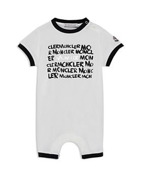 Moncler - Unisex Moncler Writing Romper & Bonnet Set - Baby