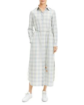 ba76ba6078b00 Theory - Belted Gingham Shirtdress ...