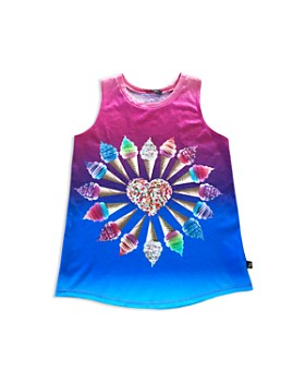 df64e31f38337 Terez - Girls  I Heart Froyo Racerback Tank - Little Kid