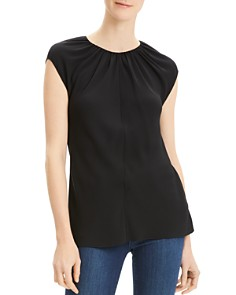 Theory - Shirred Silk Top