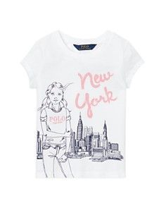 Ralph Lauren - Girls' New York Graphic Tee - Little Kid