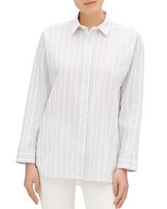 Lafayette 148 New York - Trinity Button-Sleeve Shirt