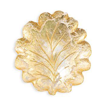 VIETRI - Moon Glass Leaf Salad Plate