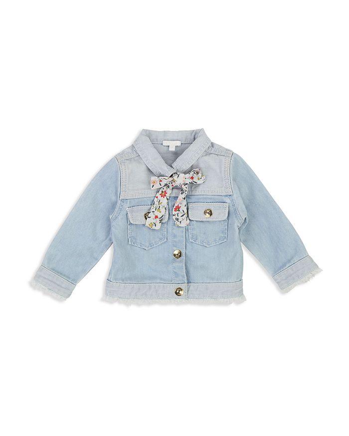 Chloé - Girls' Floral-Bowtie Denim Jacket - Baby