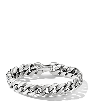David Yurman  STERLING SILVER CURB CHAIN BRACELET