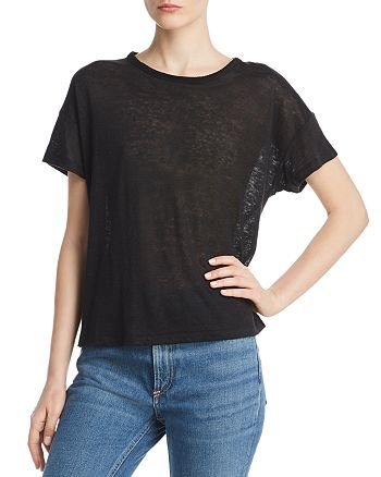 rag & bone - Gage Burnout Linen Tee