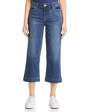 Jag Jeans LYDIA HIGH-RISE CROP WIDE-LEG JEANS IN BRILLIANT BLUE