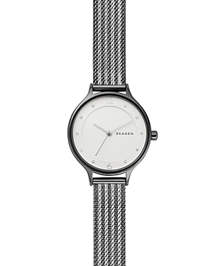 Skagen Watches ANITA TWO-TONE RIPPLE MESH BRACELET WATCH, 30MM