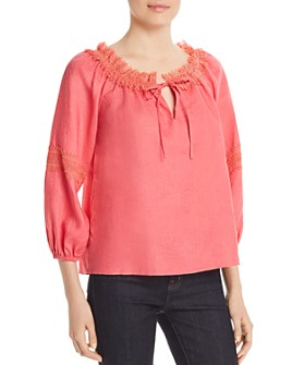Le Gali - Cindy Lace-Trim Blouse - 100% Exclusive