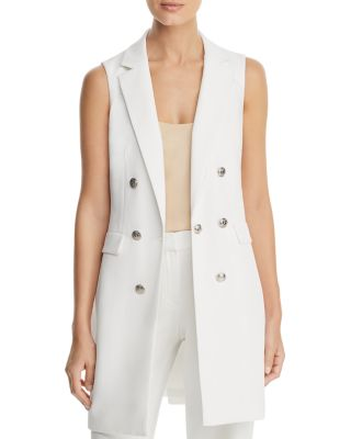 Double Breasted Sleeveless Blazer by Calvin Klein