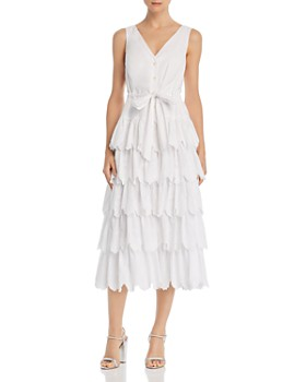Rebecca Taylor - La Vie Mirlle Embroidered Tiered Midi Dress