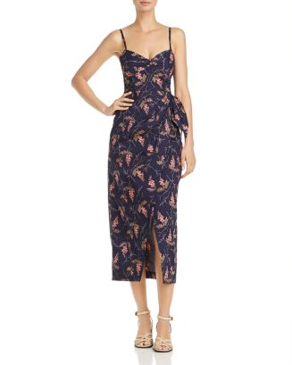 Floral Faux Wrap Dress by Rebecca Taylor
