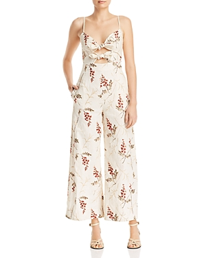 Rebecca Taylor Suits IVIE FLORAL-EMBROIDERED JUMPSUIT