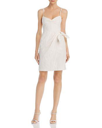 Rebecca Taylor - Pinstriped Tie-Detail Dress