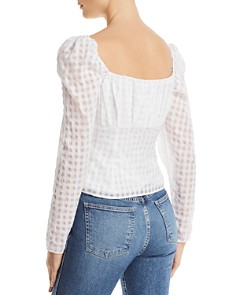 The East Order - Zazi Puff-Sleeve Gingham Top