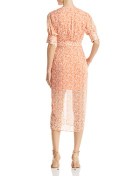The East Order - Peaches Floral Midi Dress