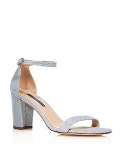 ec70b9b53d6 Stuart Weitzman Nearlynude Suede Ankle Strap Block Heel Sandals ...