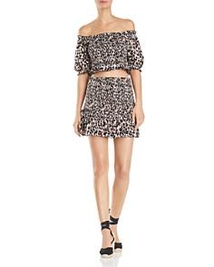 Red Carter - Animal Print Mini Skirt