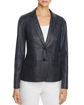 59de9308839 Lafayette 148 New York - Camden Snake-Embossed Leather Blazer - 100%  Exclusive ...