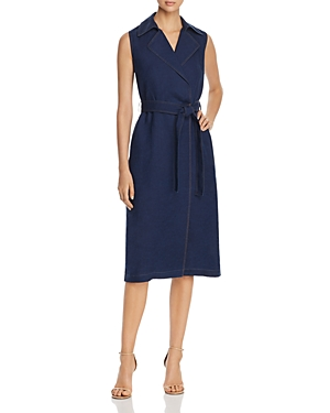 Lafayette 148 Dresses FLORENCE SLEEVELESS BELTED DRESS