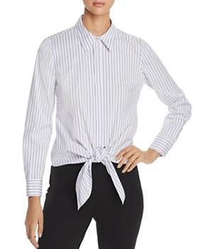 e89113f3a7b8ec Elie Tahari - Katarina Striped Tie-Front Shirt - 100% Exclusive ...