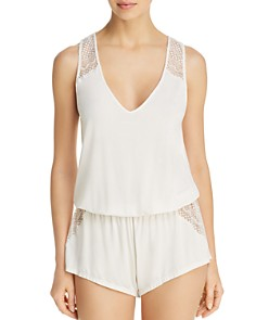 Eberjey - Kinga Lace-Trim Teddy Romper