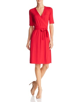 Adrianna Papell - Faux-Wrap Jersey Dress - 100% Exclusive