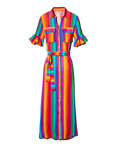 All Things Mochi - Leilani Rainbow Stripe Dress