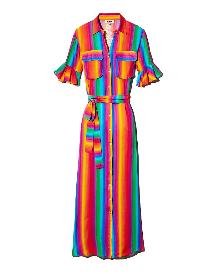All Things Mochi - Leilani Rainbow Stripe Dress